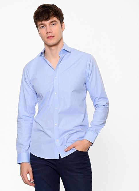 Jack & Jones Slim Fit Uzun Kollu Gömlek Mavi